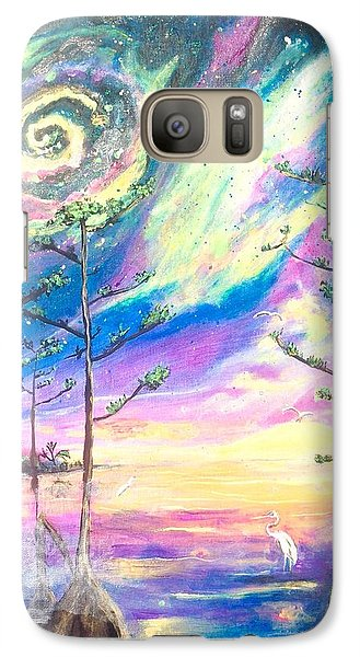 Galaxy Case featuring the painting Cosmic Florida by Dawn Harrell