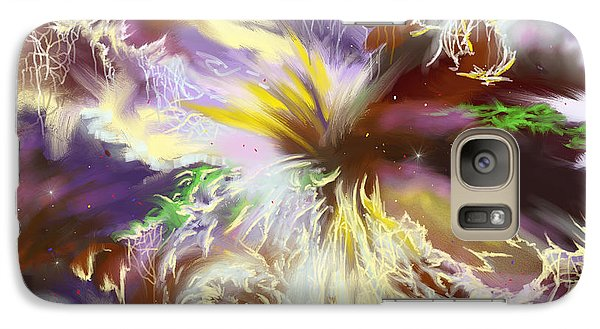 Galaxy Case featuring the digital art The Flowering Of The Cosmos by Amyla Silverflame