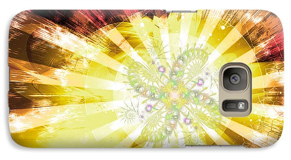 Cosmic Solar Flower Fern Flare 2 Galaxy S7 Case