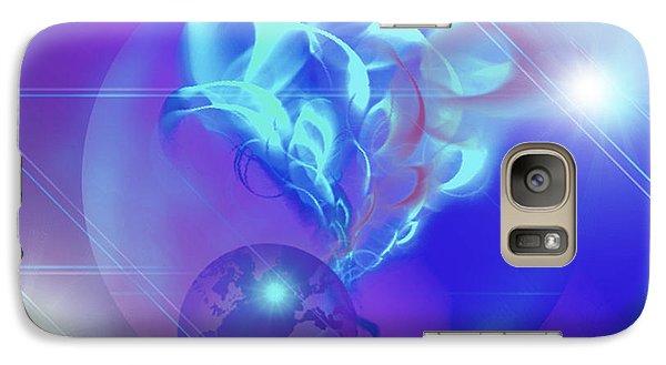 Galaxy Case featuring the digital art Cosmic Wave by Ute Posegga-Rudel
