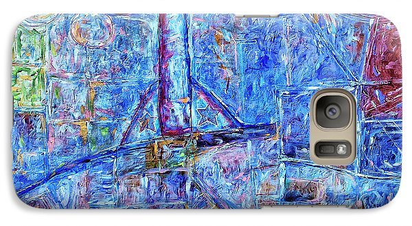 Galaxy Case featuring the painting Cosmodrome by Dominic Piperata