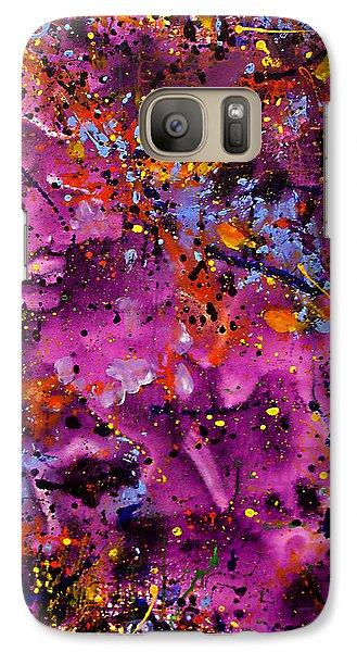 Galaxy Case featuring the painting Cosmos by Lynda Lehmann