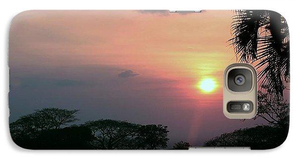 Galaxy Case featuring the photograph Costa Rican Sundown by Ellen O'Reilly