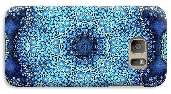 Galaxy Case featuring the drawing Cote D'azur by Mo T