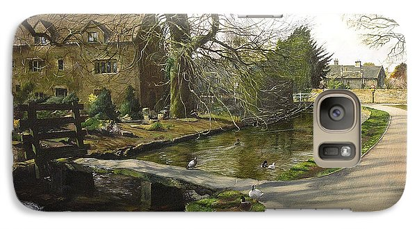 Galaxy Case featuring the painting Cotswolds Scene. by Harry Robertson