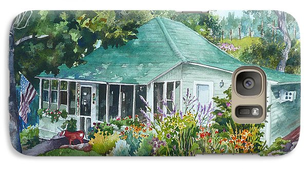 Galaxy Case featuring the painting Cottage At Chautauqua by Anne Gifford