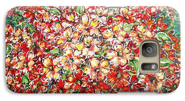 Galaxy Case featuring the painting Cottage Garden Flowers by Natalie Holland