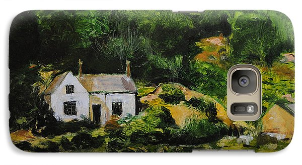 Galaxy Case featuring the painting Cottage In Wales by Harry Robertson