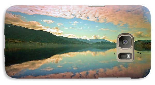 Galaxy Case featuring the photograph Cotton Candy Clouds At Skaha Lake by Tara Turner