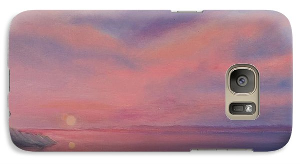 Galaxy Case featuring the painting Cotton Candy Sky by Holly Martinson