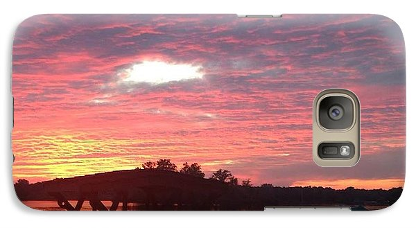 Galaxy Case featuring the photograph Cotton Candy Sunset by Rebecca Wood