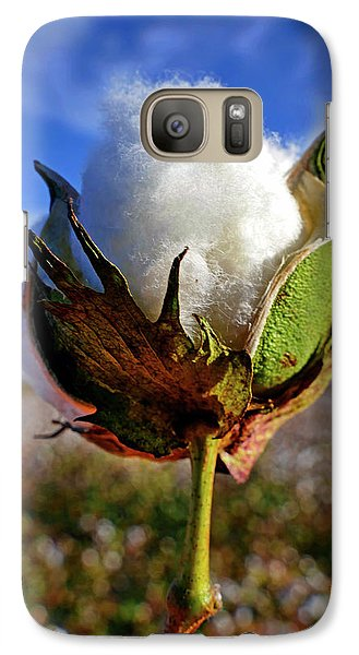 Galaxy Case featuring the photograph Cotton Pickin' by Skip Hunt
