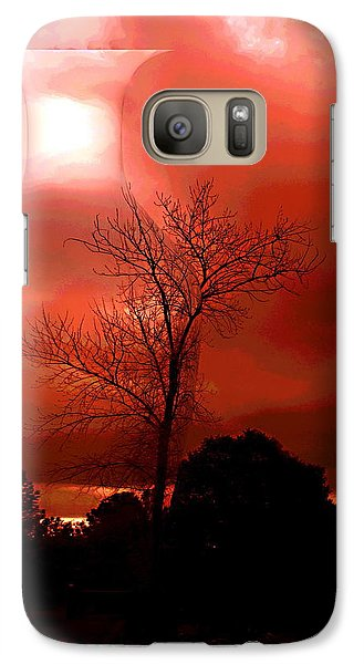 Galaxy Case featuring the photograph Cottonwood Crimson Sunset by Joyce Dickens