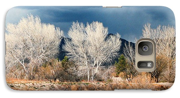 Galaxy Case featuring the photograph Cottonwoods In Winter by M Diane Bonaparte