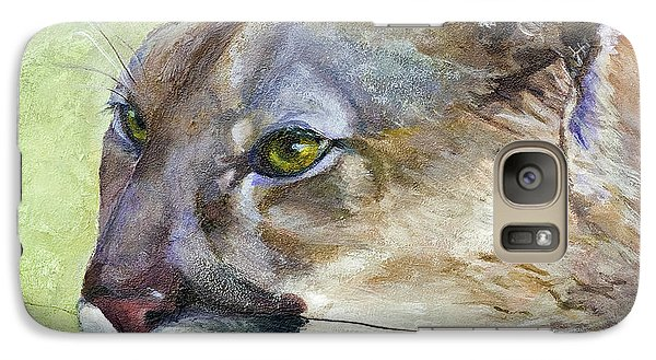 Galaxy Case featuring the painting Cougar by Bonnie Rinier