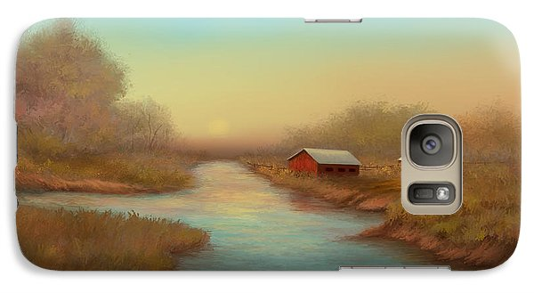 Galaxy Case featuring the painting Country Barns by Sena Wilson