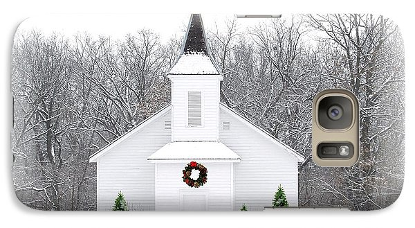 Religion Galaxy S7 Case - Country Christmas Church by Carol Sweetwood
