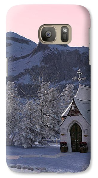Galaxy Case featuring the digital art Country Church by Methune Hively