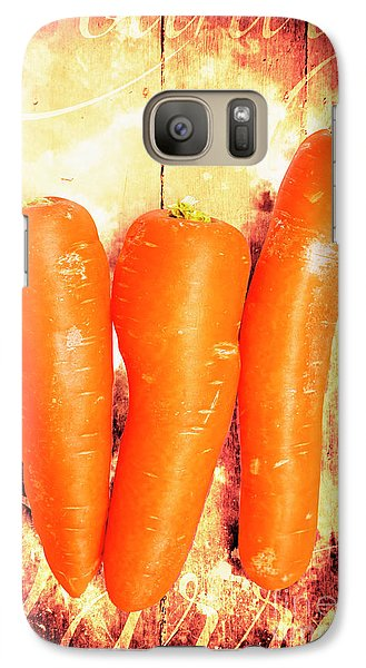 Carrot Galaxy S7 Case - Country Cooking Poster by Jorgo Photography - Wall Art Gallery