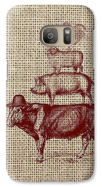 Cow Galaxy S7 Case - Country Farm Friends 2 by Brandi Fitzgerald