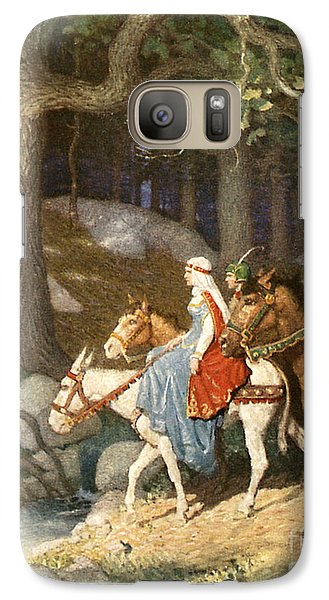 Country Folk Wending Their Way To The Tourney Galaxy S7 Case by Newell Convers Wyeth
