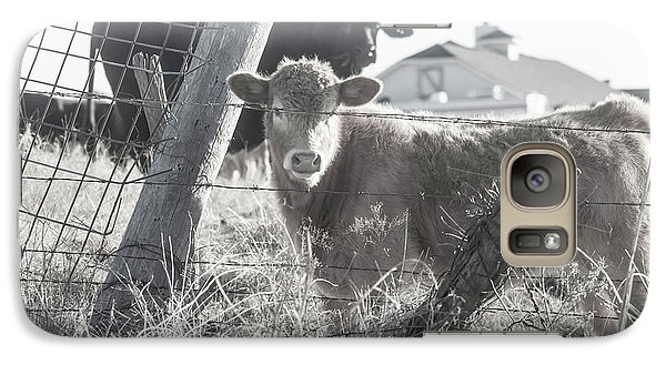 Galaxy Case featuring the photograph Country Living For These Cows by Toni Hopper