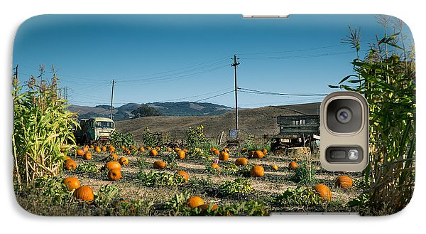 Galaxy Case featuring the photograph Country Pumpkin Patch by Kim Wilson