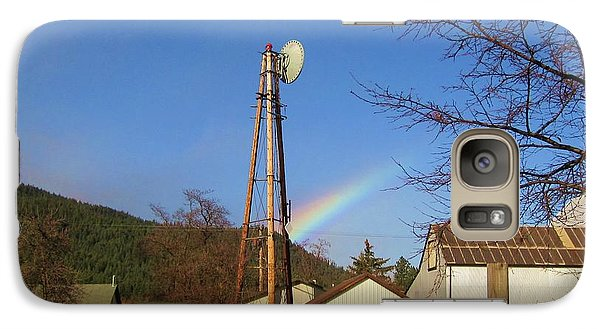 Galaxy Case featuring the photograph Country Rainbow by Mary Ellen Frazee