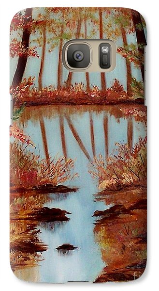 Galaxy Case featuring the painting Country Reflections by Leslie Allen