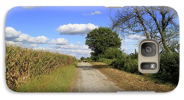 Galaxy Case featuring the photograph Country Road In Benton County, Indiana by Scott Kingery