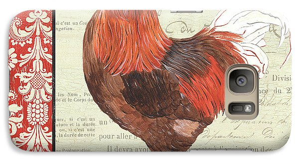 Galaxy Case featuring the painting Country Rooster 2 by Debbie DeWitt