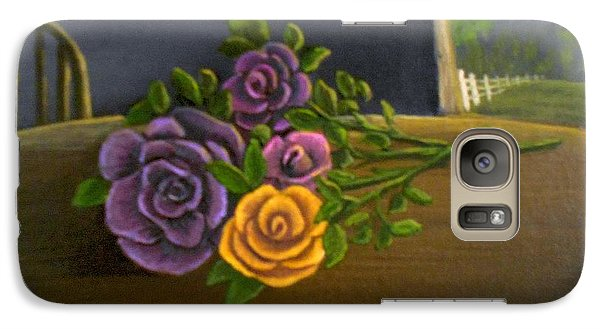 Galaxy Case featuring the painting Country Roses by Sheri Keith