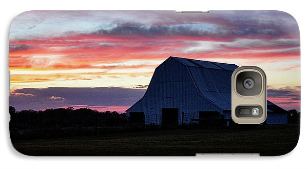 Galaxy Case featuring the photograph Country Sunset by Cricket Hackmann
