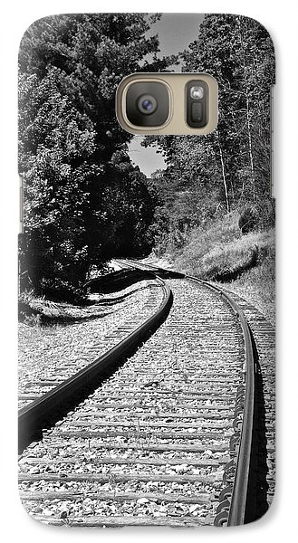 Country Tracks Black And White Galaxy S7 Case