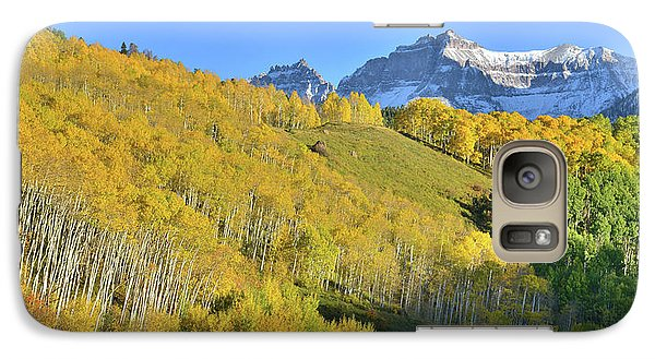 Galaxy Case featuring the photograph County Road 7 Fall Colors by Ray Mathis