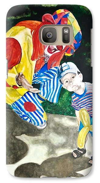 Galaxy Case featuring the painting Couple Of Clowns by Lance Gebhardt