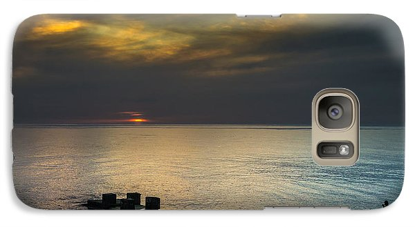 Galaxy Case featuring the photograph Couple Watching Sunset by John Williams