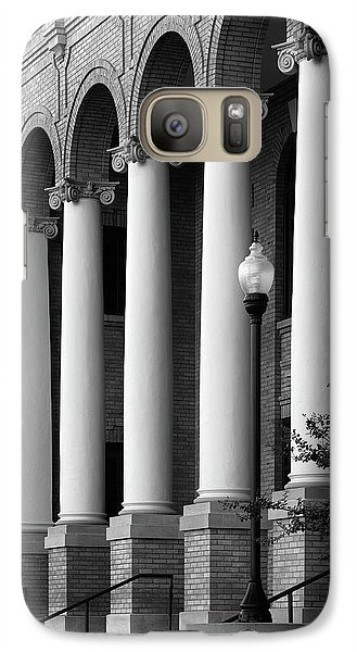 Galaxy Case featuring the photograph Courthouse Columns by Richard Rizzo