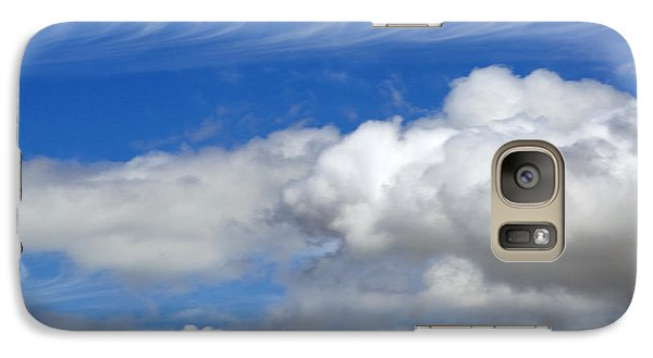 Galaxy Case featuring the photograph Courting Clouds by Gwyn Newcombe