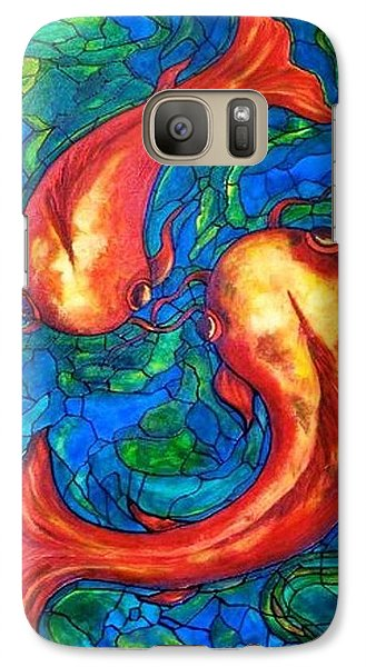 Galaxy Case featuring the painting Courtship  by Rae Chichilnitsky