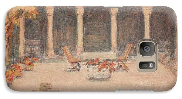 Galaxy Case featuring the painting Courtyard Of Stravopoleos Church by Olimpia - Hinamatsuri Barbu