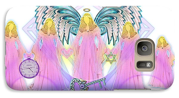 Galaxy Case featuring the digital art Cousins by Barbara Tristan