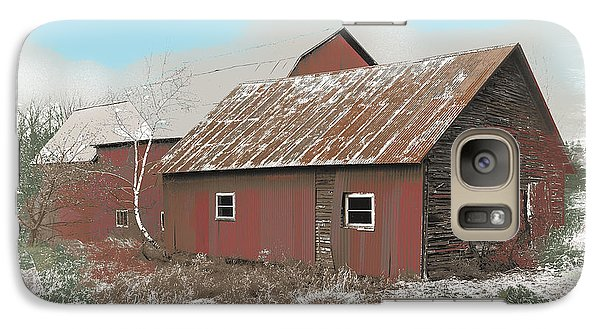 Galaxy Case featuring the digital art Coventry Barn by John Selmer Sr