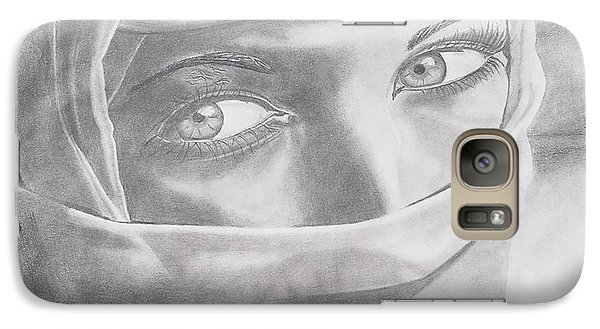 Galaxy Case featuring the drawing Covered Beauty by Wil Golden