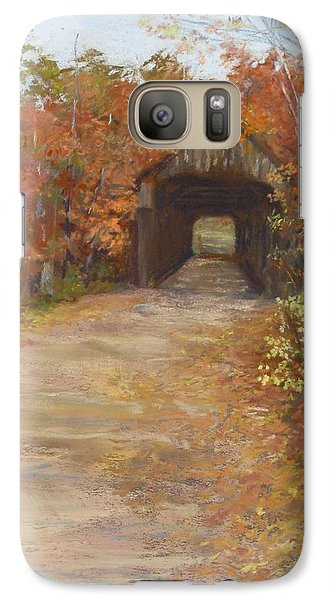 Galaxy Case featuring the painting Covered Bridge  Southern Nh by Jack Skinner