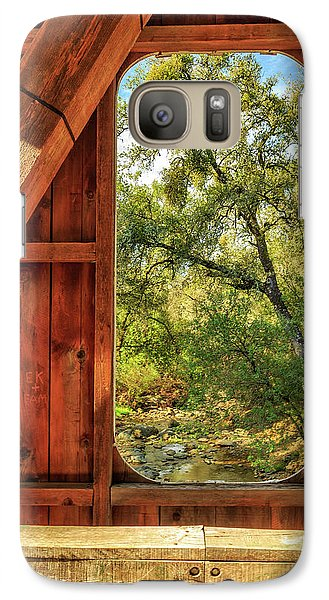 Galaxy Case featuring the photograph Covered Bridge Window by James Eddy