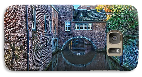 Galaxy Case featuring the photograph Covered Canal In Den Bosch by Frans Blok
