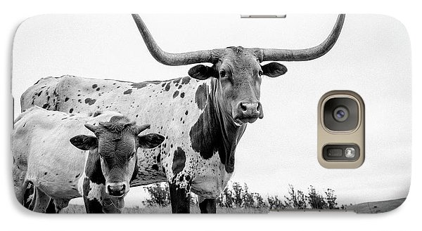 Cow Galaxy S7 Case - Cow And Calf In The Pasture by Sherri Rieck