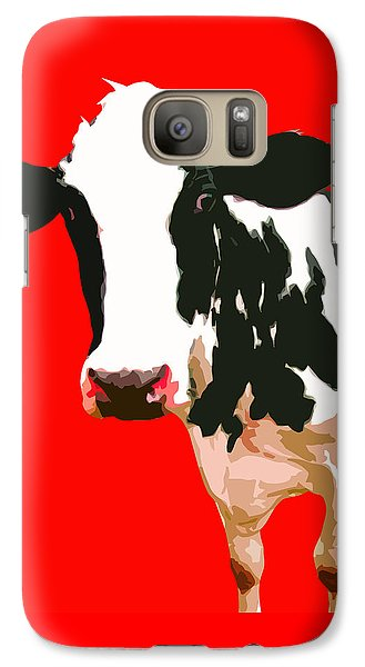 Cow In Red World Galaxy S7 Case