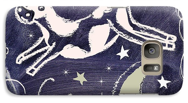 Cow Jumped Over The Moon Chalkboard Art Galaxy S7 Case